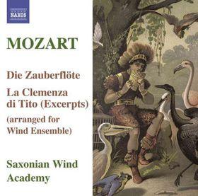 Mozart:magic Flute/clemenza Arr. Wind Ens - Saxonian Woodwind Academy (CD)