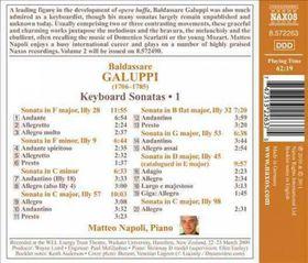 Galuppi: Keyboard Sonatas - Keyboard Sonatas - Vol.1 (CD)