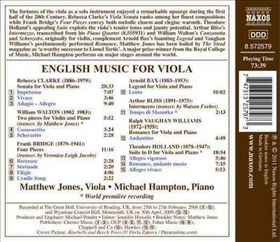 English Music For Viola - English Music For Viola (CD)