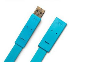 LaCie USB2.0 Flat Cable A male A female 1.2m Design by Item