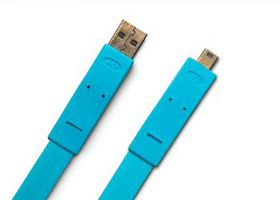 LaCie USB2.0 Flat Cable A male mB male - 1.2m