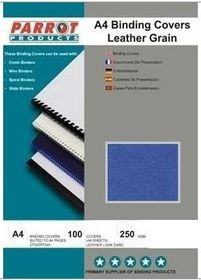 Parrot A4 Leather Grain 250gsm Binding Covers 100s - Royal Blue