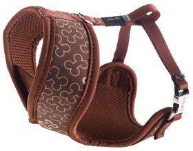 Rogz Lapz Trendy Brown Bones Wrapz Harness - Small