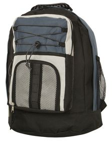 Gotcha Student Laptop Backpack - Black-Navy-Beige