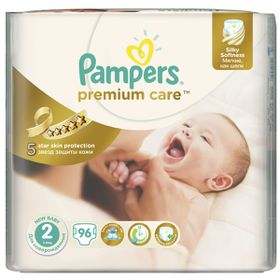 Pampers - Premium Care Nappies - Size 2 - Jumbo Pack (96 count)